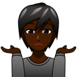 Person Shrugging: Dark Skin Tone on emojidex 1.0.33