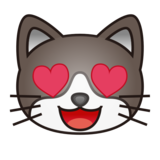 Smiling Cat with Heart-Eyes on emojidex 1.0.33