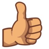 Thumbs Up: Medium Skin Tone on emojidex 1.0.33