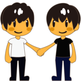 Men Holding Hands on emojidex 1.0.33