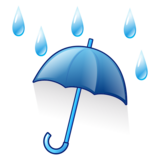Umbrella With Rain Drops on emojidex 1.0.33