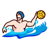 Person Playing Water Polo: Light Skin Tone on emojidex 1.0.33