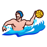 Person Playing Water Polo: Medium-Light Skin Tone on emojidex 1.0.33