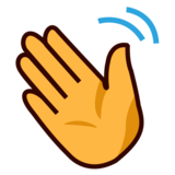 Waving Hand on emojidex 1.0.33