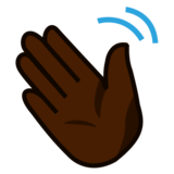 Waving Hand: Dark Skin Tone on emojidex 1.0.33