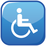 Wheelchair Symbol on emojidex 1.0.33