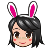 Woman With Bunny Ears, Type-3 on emojidex 1.0.33