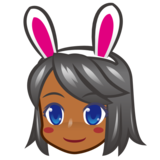 Woman With Bunny Ears, Type-5 on emojidex 1.0.33