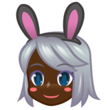 Woman With Bunny Ears, Type-6 on emojidex 1.0.33