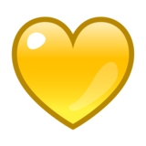 Yellow Heart on emojidex 1.0.33