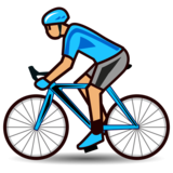Person Biking: Medium Skin Tone on emojidex 1.0.34