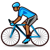 Person Biking: Medium-Dark Skin Tone on emojidex 1.0.34