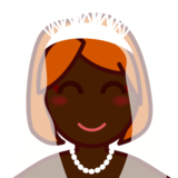 Person With Veil: Dark Skin Tone on emojidex 1.0.34
