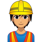 Construction Worker: Medium Skin Tone on emojidex 1.0.34