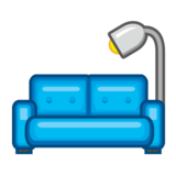 Couch and Lamp on emojidex 1.0.34