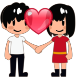 Couple With Heart: Medium-Light Skin Tone on emojidex 1.0.34