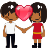 Couple With Heart, Type-5 on emojidex 1.0.34