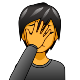 Person Facepalming on emojidex 1.0.34