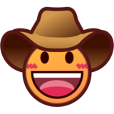 Cowboy Hat Face on emojidex 1.0.34