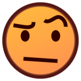 Face With Raised Eyebrow on emojidex 1.0.34