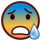 Anxious Face With Sweat on emojidex 1.0.34