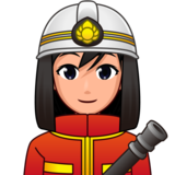 Woman Firefighter: Medium-Light Skin Tone on emojidex 1.0.34
