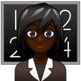 Woman Teacher: Dark Skin Tone on emojidex 1.0.34