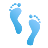 Footprints on emojidex 1.0.34