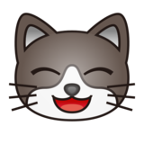 Grinning Cat Face With Smiling Eyes on emojidex 1.0.34