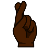 Crossed Fingers: Dark Skin Tone on emojidex 1.0.34