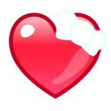 Heart with Ribbon on emojidex 1.0.34