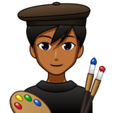 Man Artist: Medium-Dark Skin Tone on emojidex 1.0.34