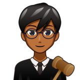 Man Judge: Medium-Dark Skin Tone on emojidex 1.0.34