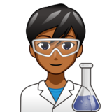 Man Scientist: Medium-Dark Skin Tone on emojidex 1.0.34