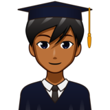 Man Student: Medium-Dark Skin Tone on emojidex 1.0.34