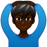 Man Gesturing OK: Dark Skin Tone on emojidex 1.0.34
