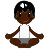 Man in Lotus Position: Dark Skin Tone on emojidex 1.0.34