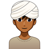 Man Wearing Turban: Medium-Dark Skin Tone on emojidex 1.0.34