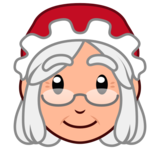 Mrs. Claus: Medium-Light Skin Tone on emojidex 1.0.34