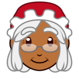 Mrs. Claus: Medium-Dark Skin Tone on emojidex 1.0.34