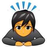 Person Bowing on emojidex 1.0.34