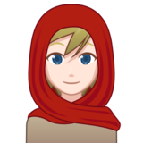 Woman With Headscarf: Light Skin Tone on emojidex 1.0.34