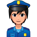 Police Officer: Medium-Light Skin Tone on emojidex 1.0.34