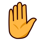Raised Hand on emojidex 1.0.34