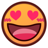Smiling Face With Heart-Eyes on emojidex 1.0.34