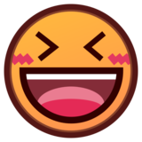 Grinning Squinting Face on emojidex 1.0.34