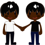 Men Holding Hands: Dark Skin Tone on emojidex 1.0.34
