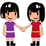 Women Holding Hands: Medium-Light Skin Tone on emojidex 1.0.34
