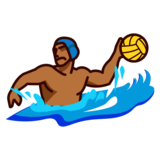 Person Playing Water Polo: Medium-Dark Skin Tone on emojidex 1.0.34