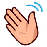 Waving Hand: Medium-Light Skin Tone on emojidex 1.0.34